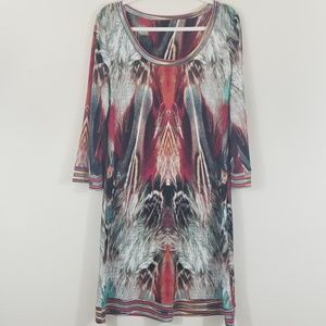 Calvin Klein Dress Feather Design Large Beautiful!